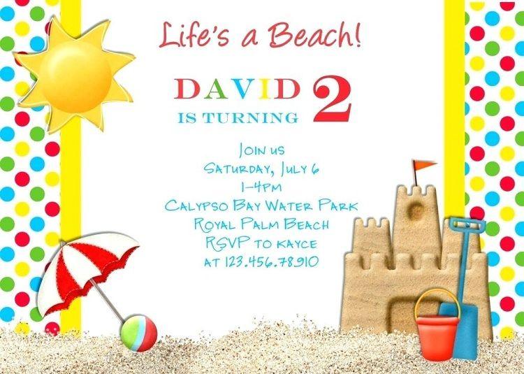 Beach Party Invitation Card Template Check More At Invitationideasorg