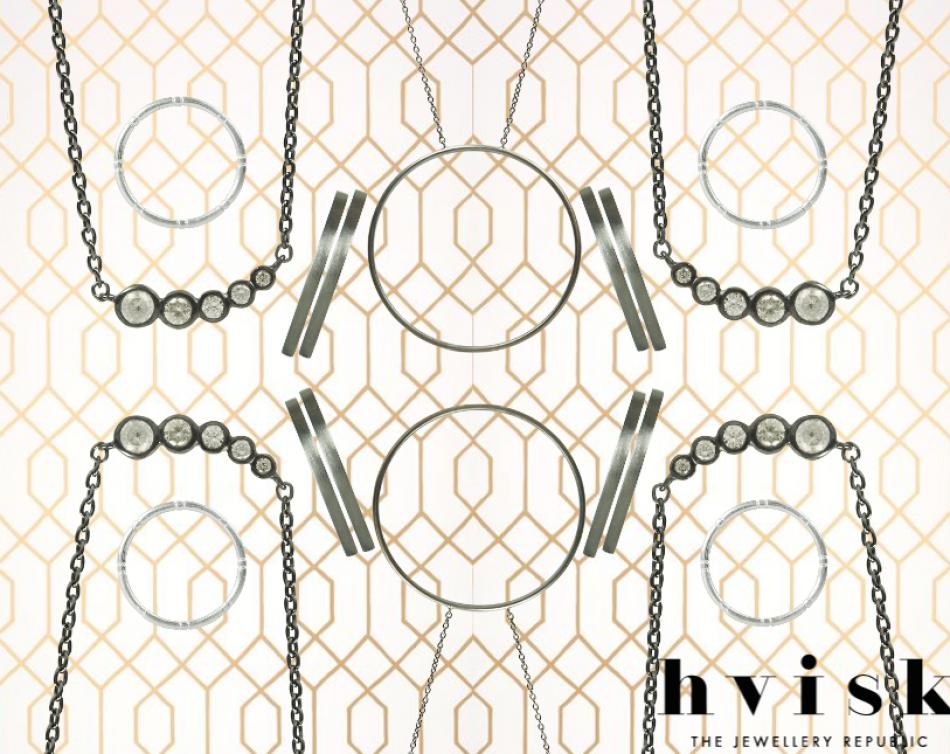 Mirrors #hvisk #stylist #fashion #inspiration #jewellery #rhodium #style #pattern
