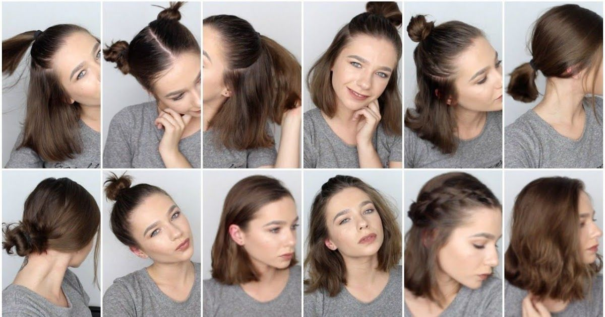 Hairstyles For Short Hair For Work Short Hair Styles Easy Heatless Hairstyles F Easy Hair Hair In 2020 Short Hair Styles Easy Heatless Hairstyles Easy Hairstyles
