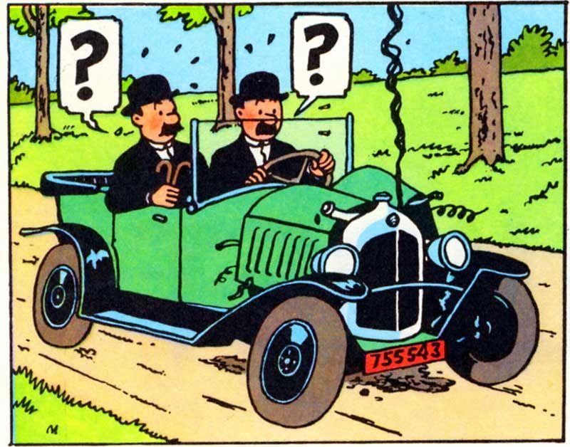 El cangrejo de las pinzas de oro - Citroen 5HP 1924