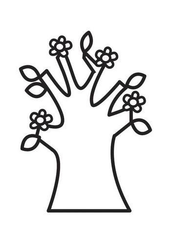 Malvorlage Baum Mit Blüten Im Frühling Schule Nature Tree