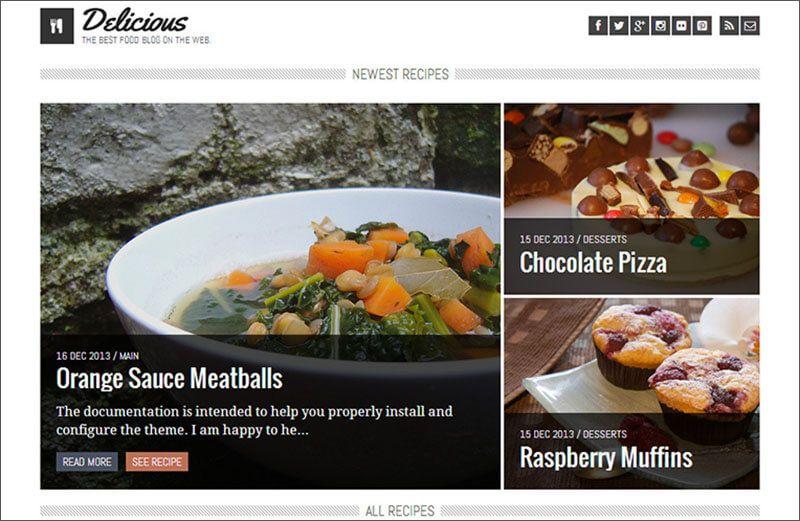 18 Template Theme Blog Resep Masakan Dan Kuliner Resep Masakan Masakan Resep Makanan