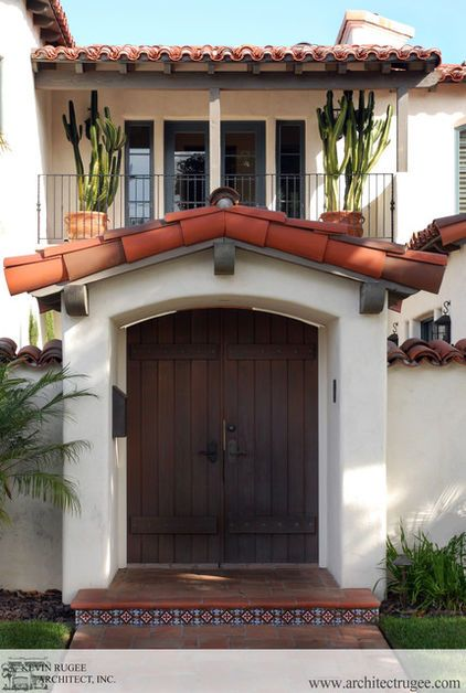 Exterior By Kevin Rugee Tile Step And Plants By Window Mexican