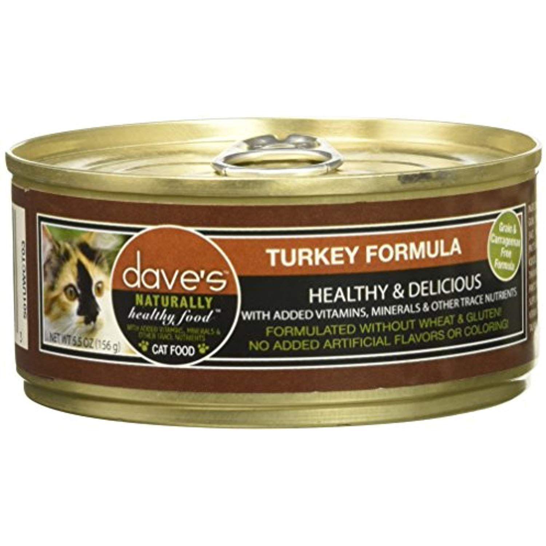 Daves naturally healthy turkey formula for cats 55 oz