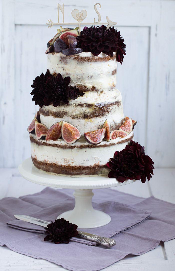 Hochzeitstorte Mit Feigen Dahlien Recipe Kuchen Geback