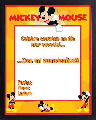 Tarjetas Mickey Mouse Para Imprimir Gratis Silver En 2019