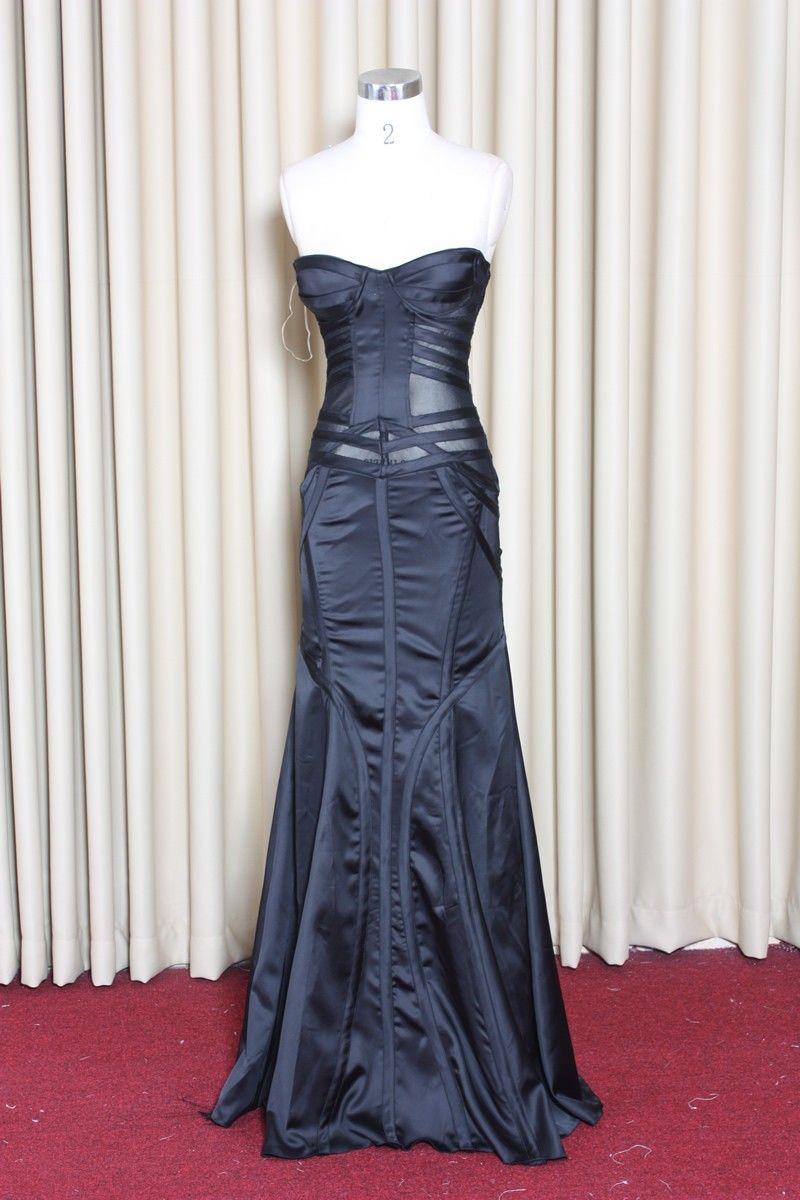 Moonlit bridals custom made black sheer corset bridal gown wedding