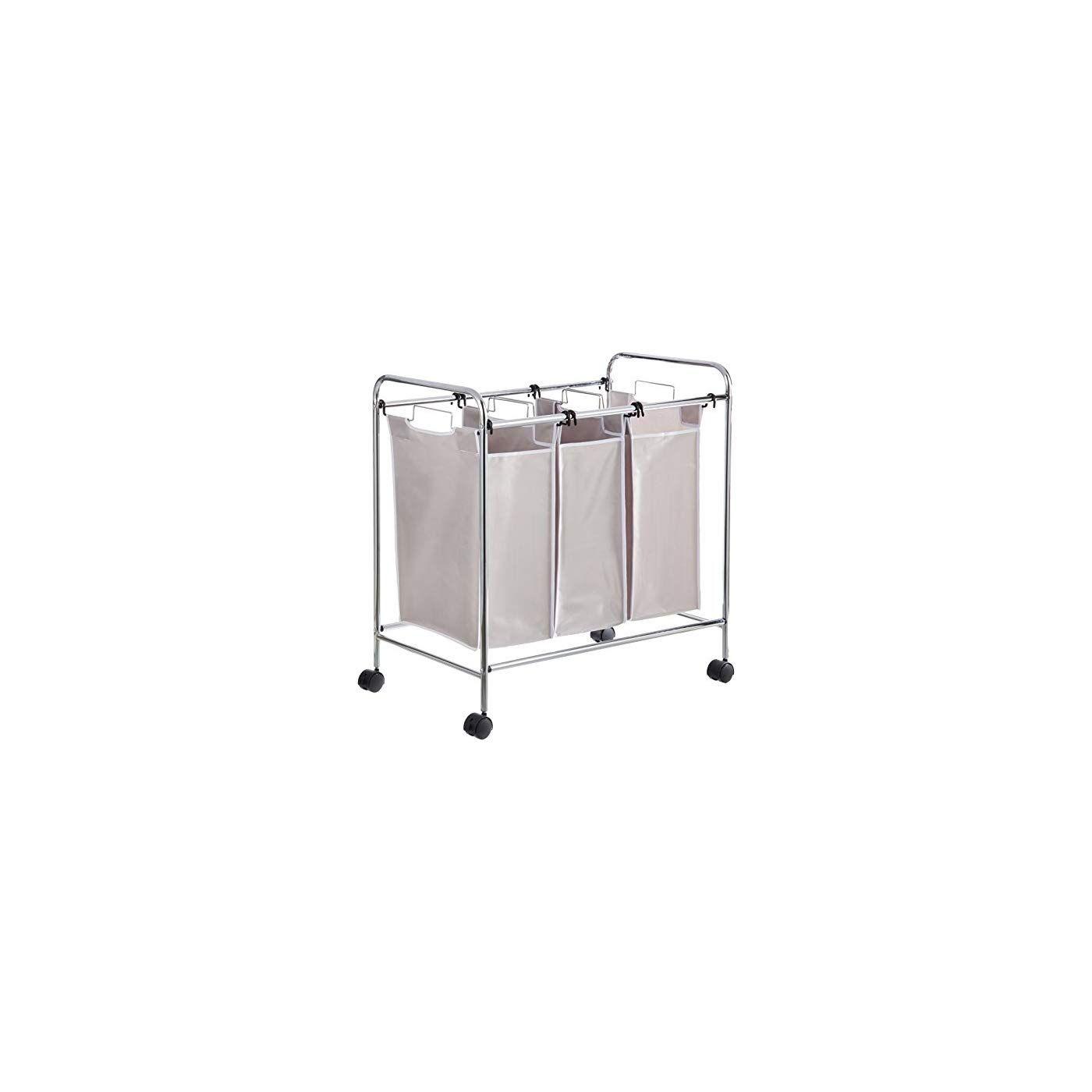 Amazonbasics 3 Bag Laundry Hamper Sorter Basket Laundry Hamper
