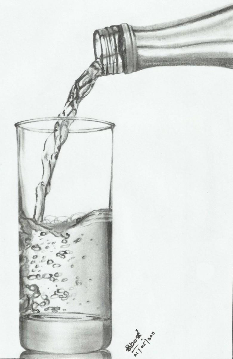 Glass - Sketching by Niranja Jayasinghe in My Drawings at touchtalent