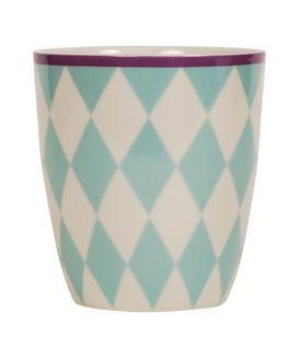 Aspegren Denmark, Harlequin turquise mug