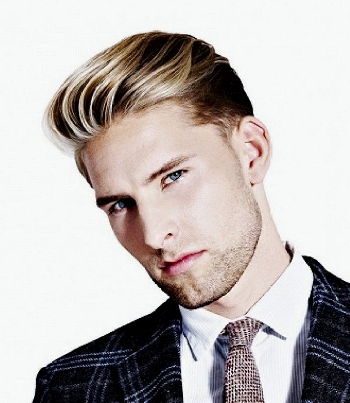 Hairstyle Undercut Slick Back Blonde Hairs Color For Men 2015
