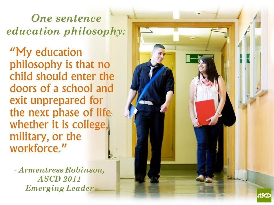 002 ASCD Emerging Leader Armentress Robinson's one sentence