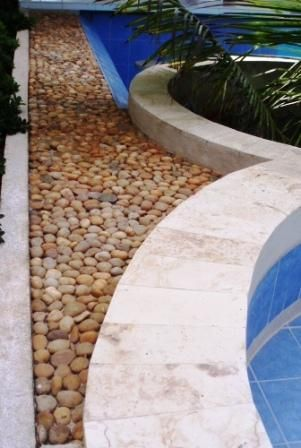 Polished Amber Pebble Tile In 2019 Pebbles Small In Cement