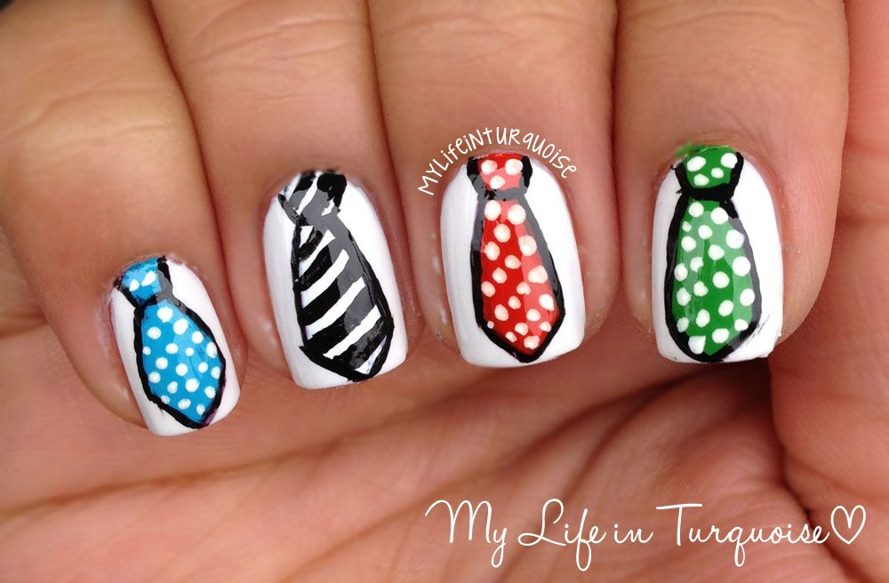 fathers day nail art | Happy Father\'s Day - Neckties | Father\'s Day ...