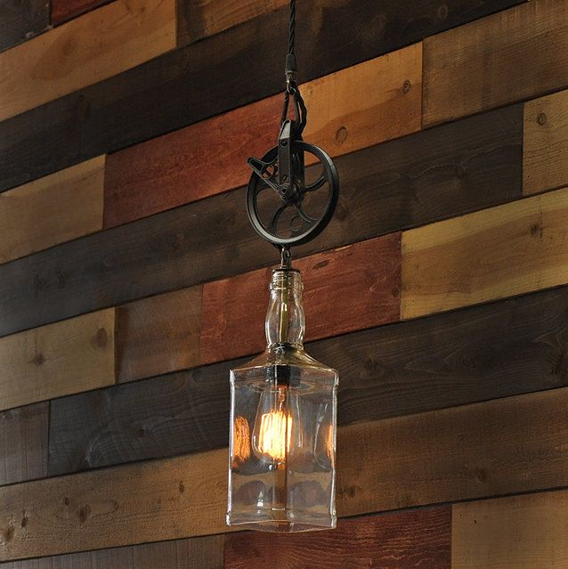 The Whiskey Hanging Pulley Pendant by MoonshineLamp on