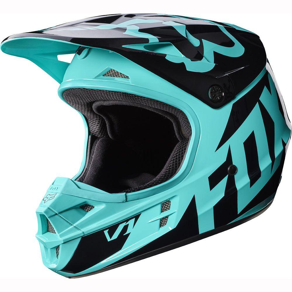 6ab6e733 NEW 2017 FOX RACING MENS ADULT MX ATV MOTO X RIDING TEAL GREEN V1 RACE  HELMET #FoxRacing