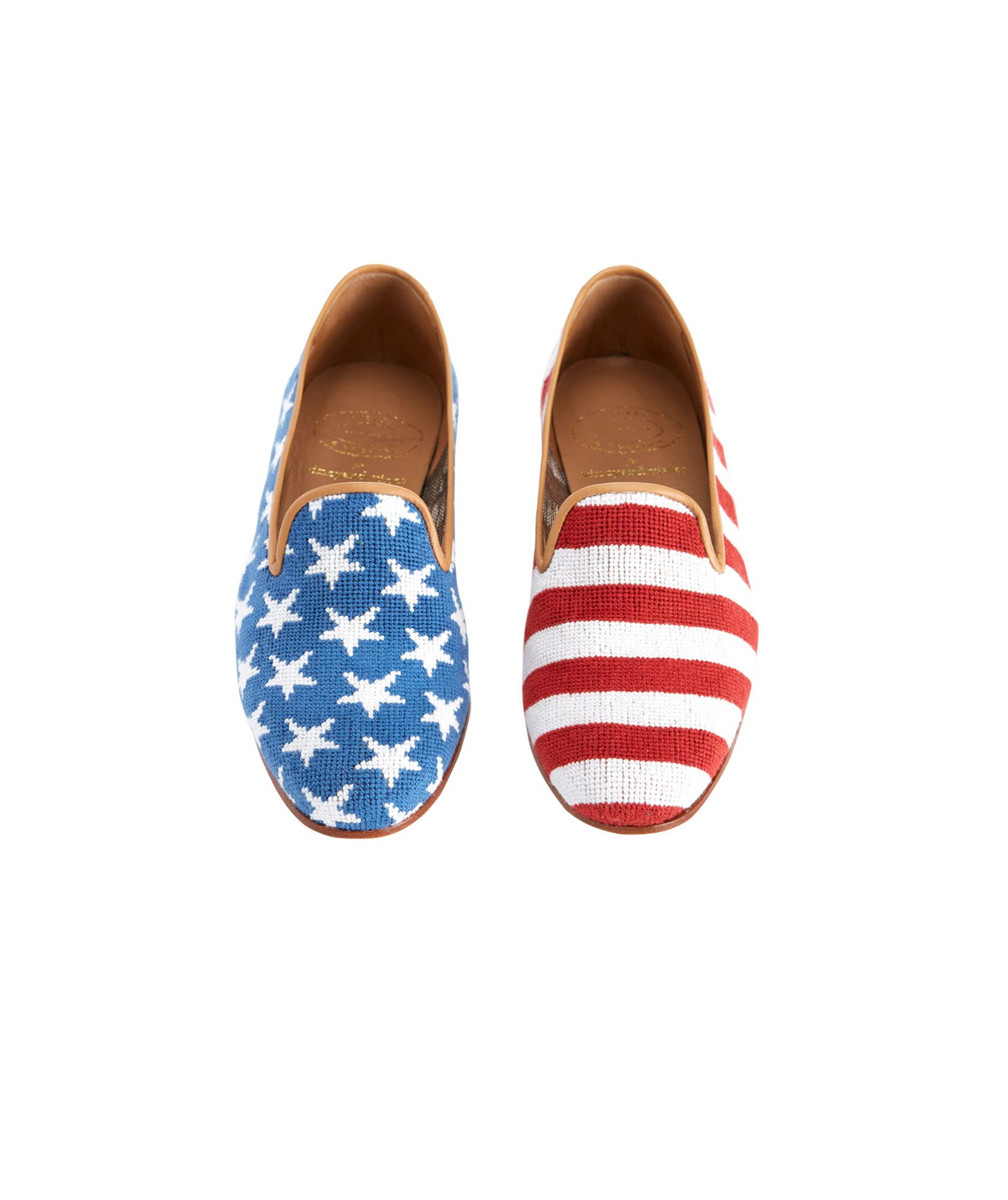 Stubbs & Wootton Striped Round-Toe Loafers outlet locations for sale A8DVRebA