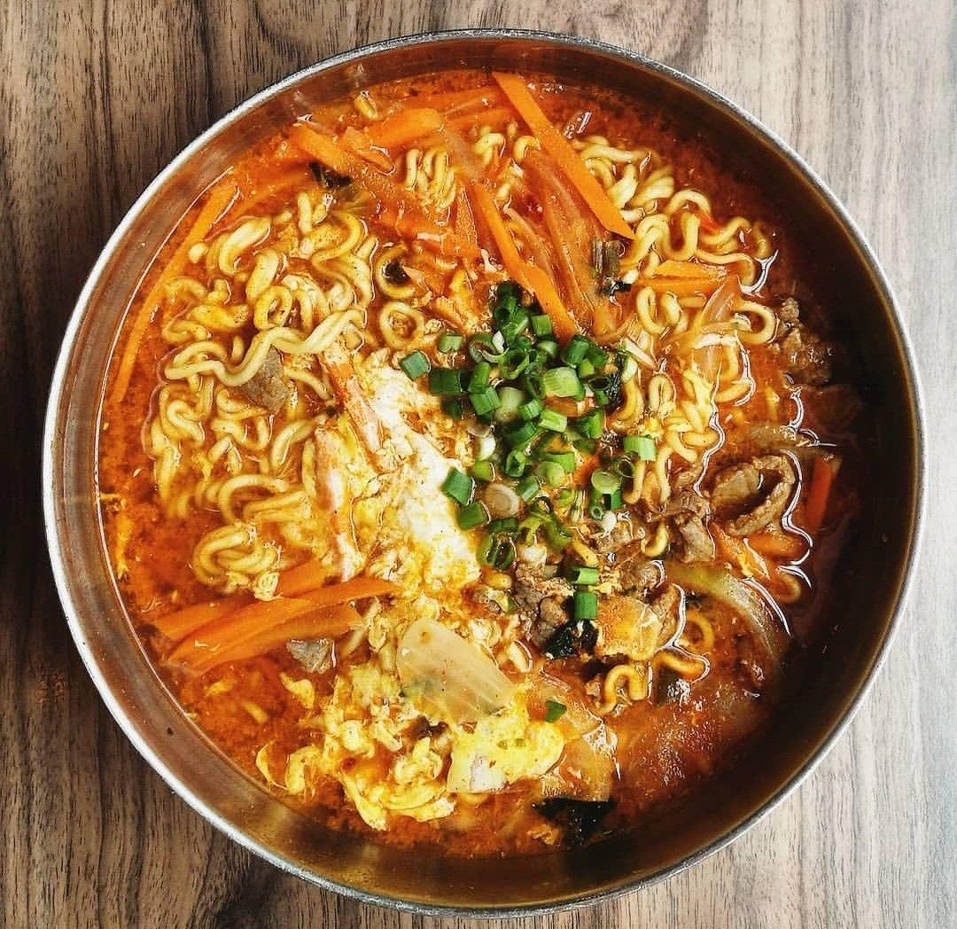 Korean Food Ramyeon Makanan Dan Minuman Makanan Makanan Korea