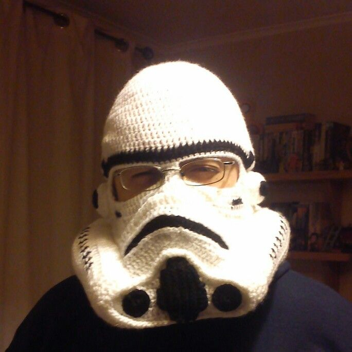 Crochet stormtrooper helmet (hat), designed by Mel | My Crafty ...