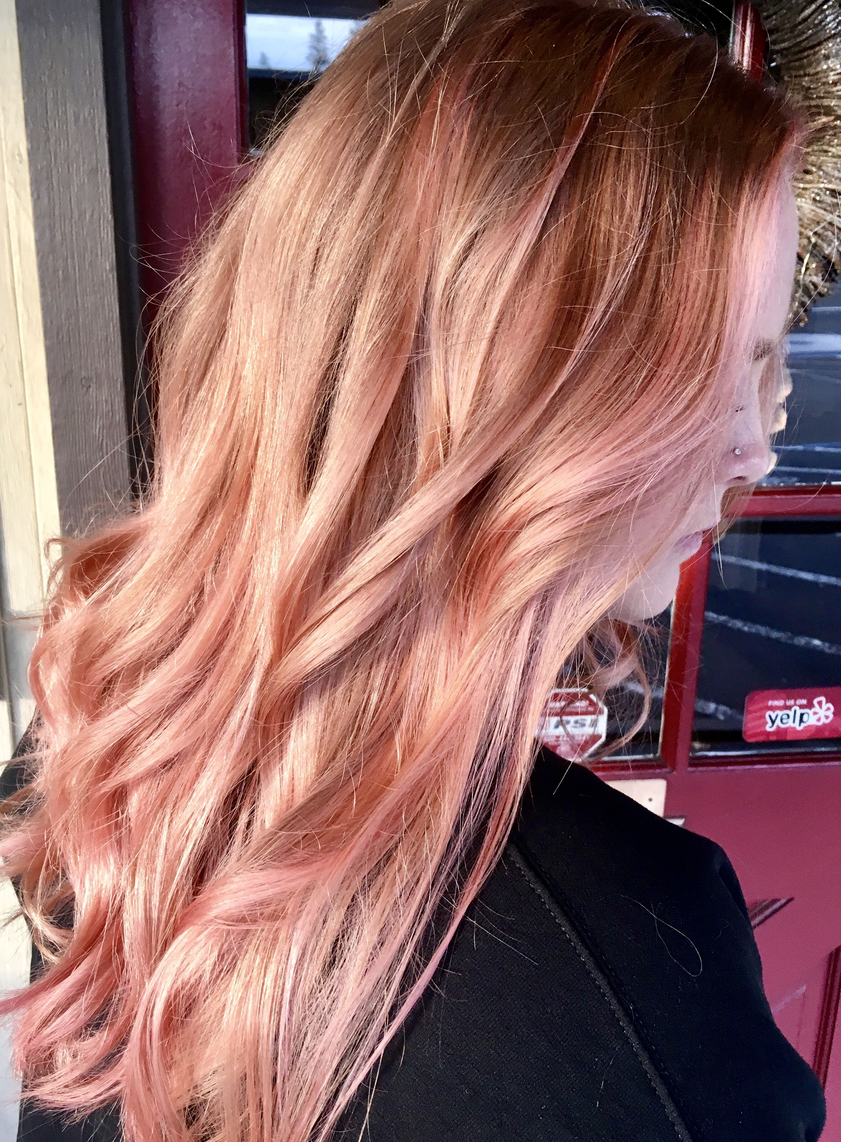 Beautiful Pink Rose Gold Balayage Does Hair Dye Expire Dyed Hair Hair