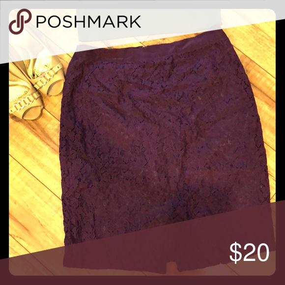 J. Crew Purple lace Skirt Purple Lace Skirt, great condition. Like new! J. Crew Skirts Midi