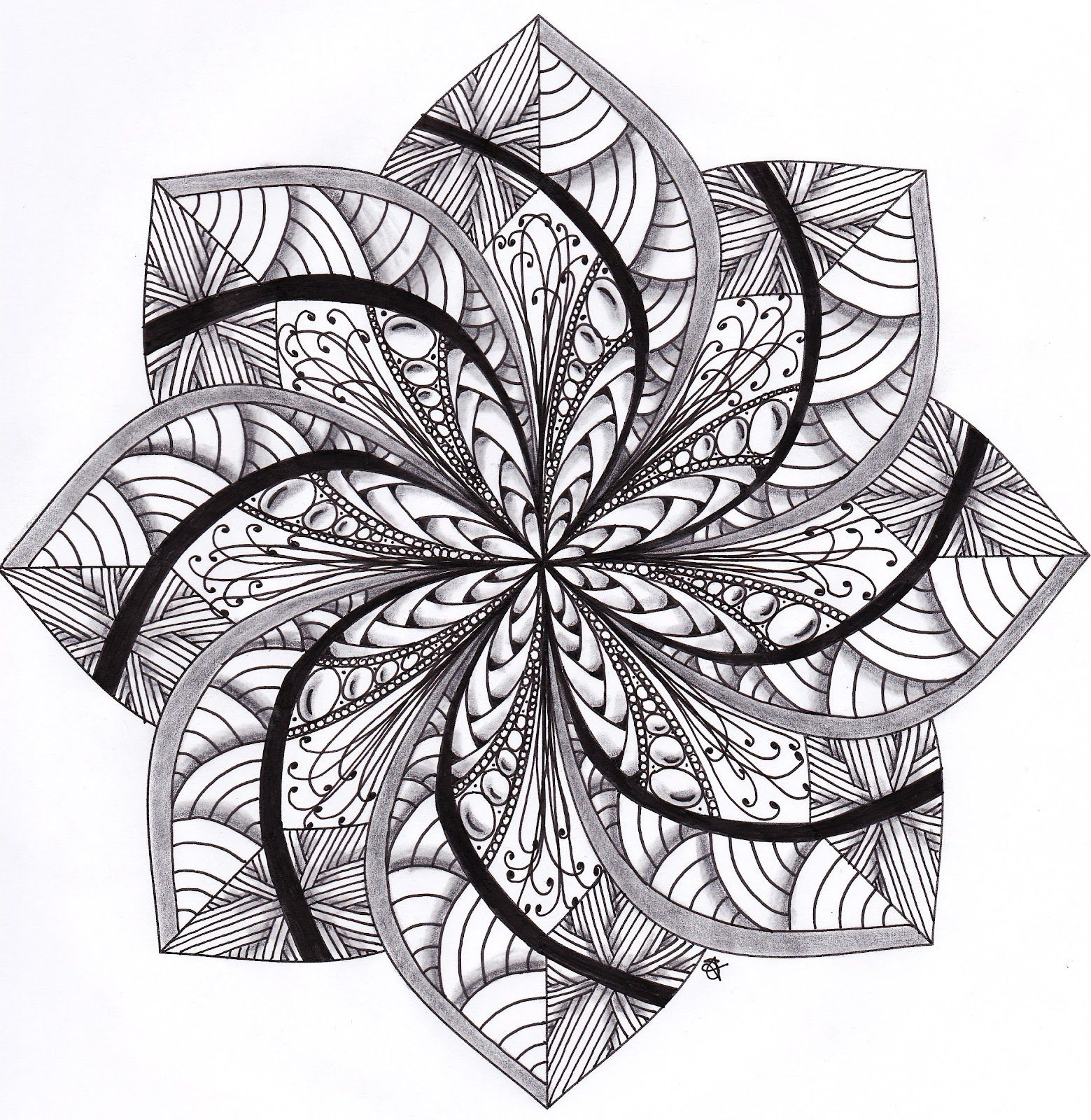 Musings march 2012 oodles of doodles and more in 2018 pinterest mandala dessin - Mandala adulte ...