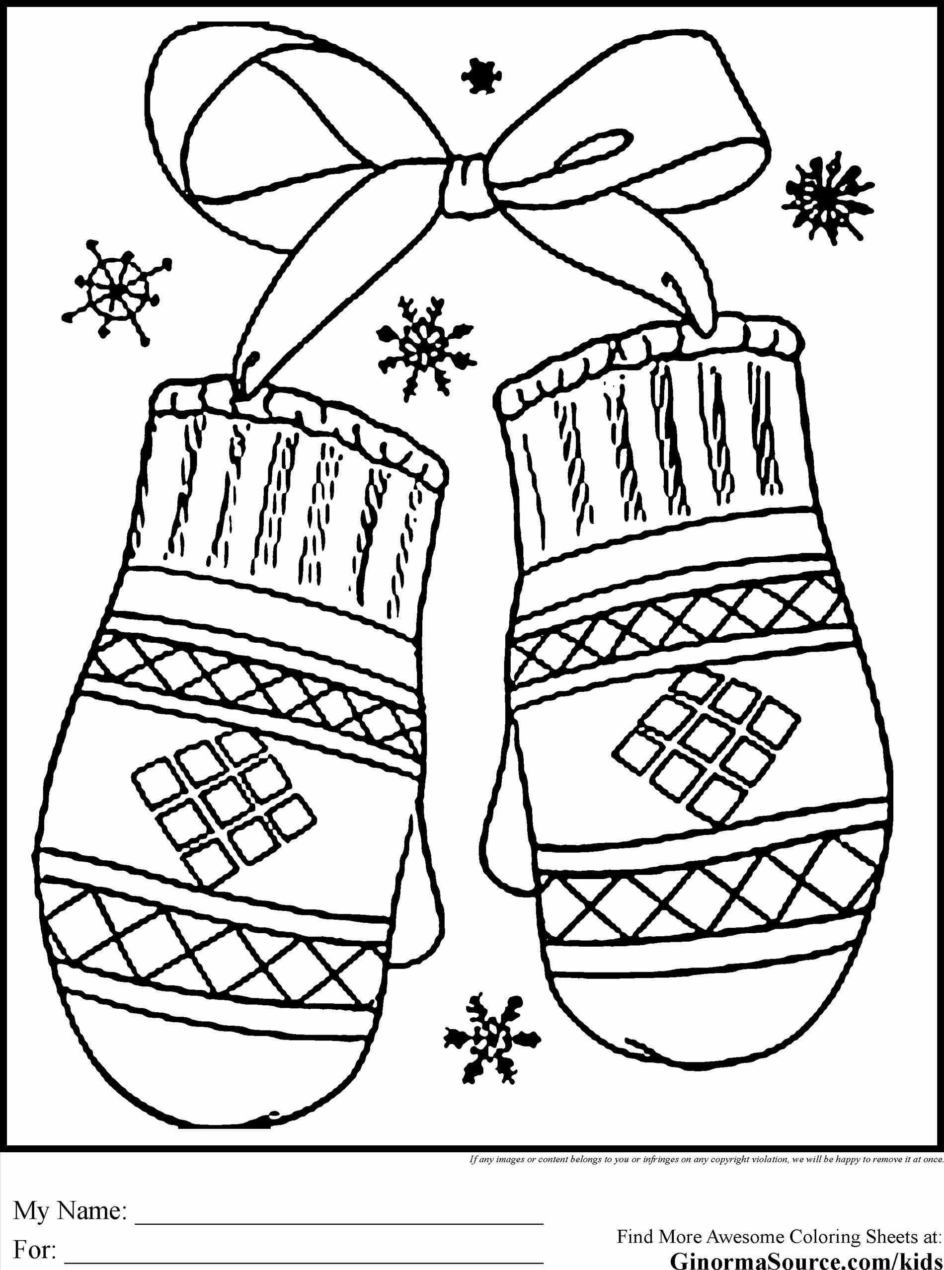 Winter Clothes Pages Tryonshortscom A Must Stuff Coloring