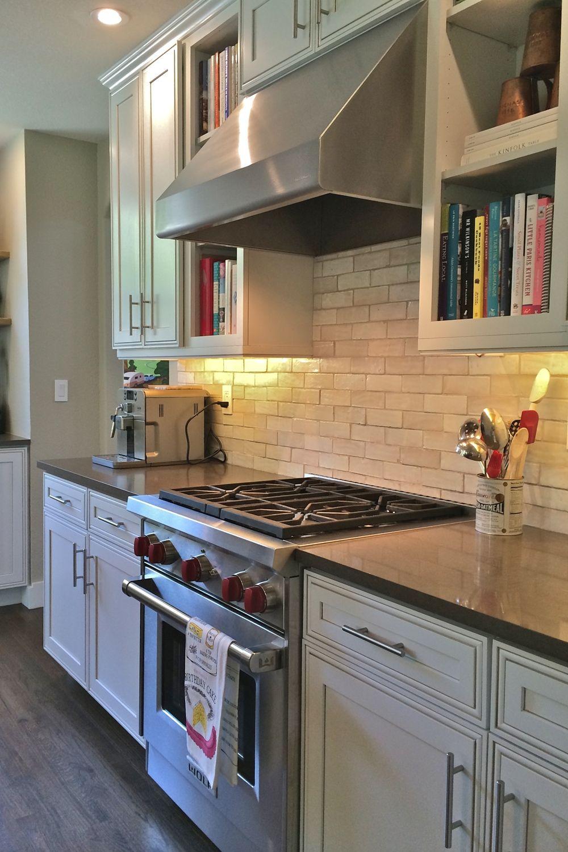 Finished Boulder home project / kitchen remodel: range ...
