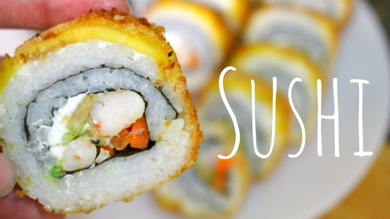 Sushi Empanizado Con Platano Y Queso Crema Preparar Sushi Arroz Para Sushi Comida Japonesa Recetas