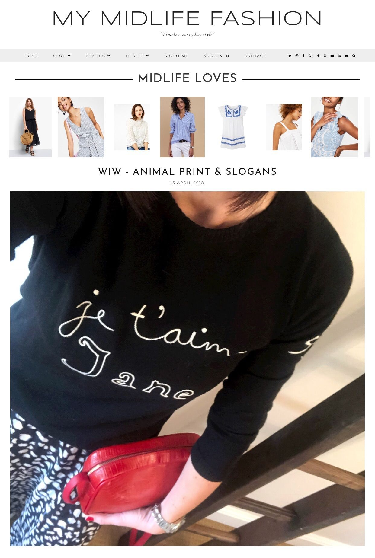 d662ff581026 How to style & where to shop a slogan knit sweater with an animal print  maxi skirt #ootd #wiw #lotd #over40 #over40fashion #fashion ...