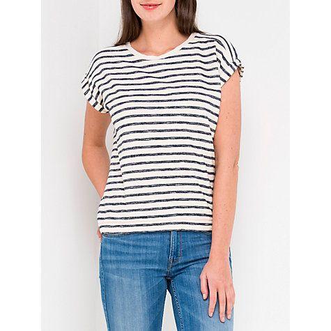 Buy Lee Short Sleeve Stripe T-Shirt, Turtle Dove Online at johnlewis.com