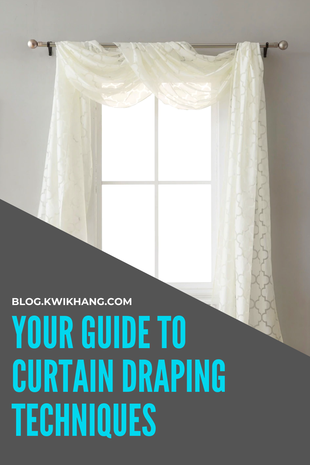 Your Guide To Curtain Draping Techniques In 2020 Draping Techniques Curtains Hanging Drapes