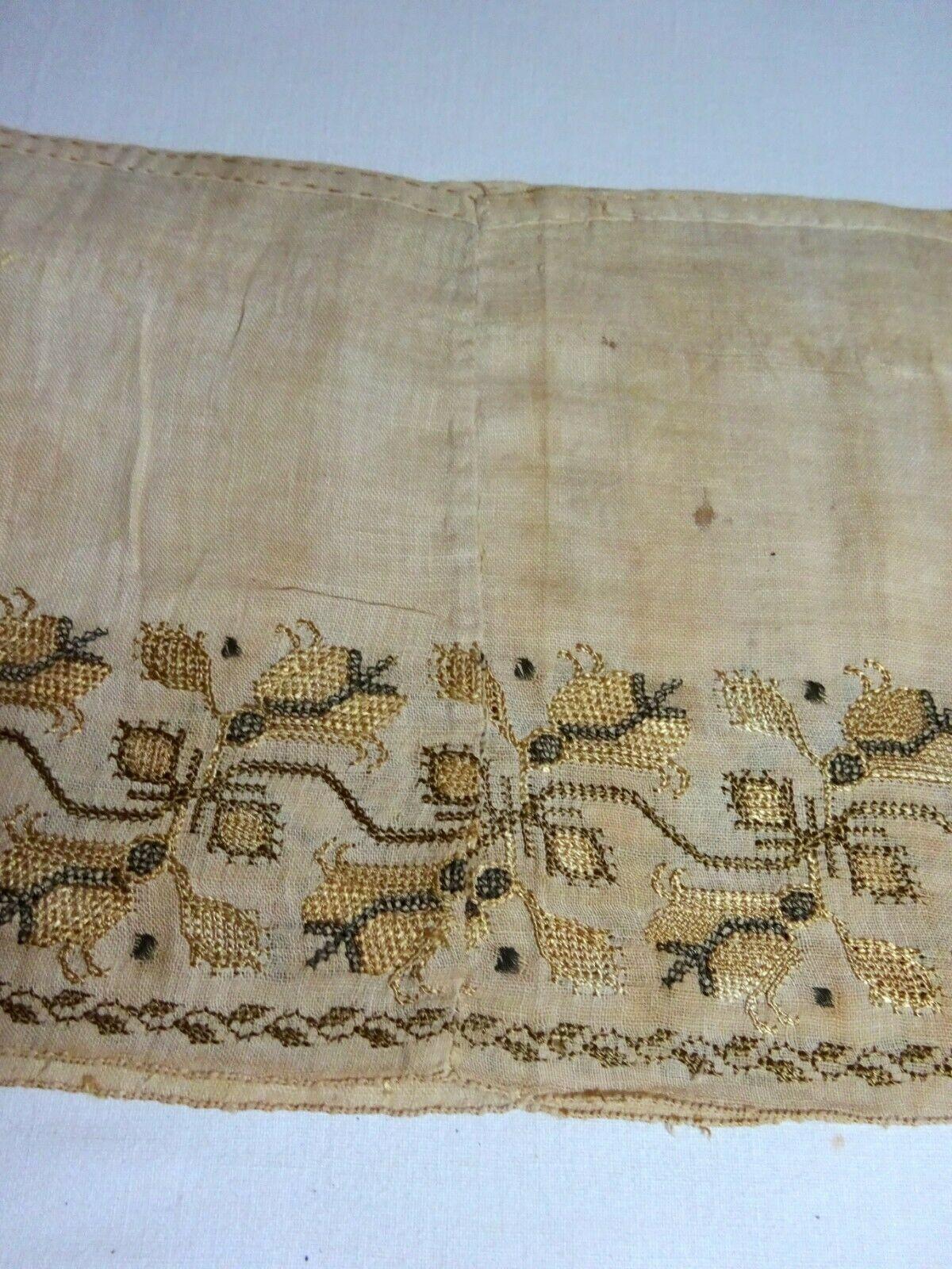 An  18th C Greek Islands Ottoman Silk Embroidery Sleeve Textile Panel  | eBay