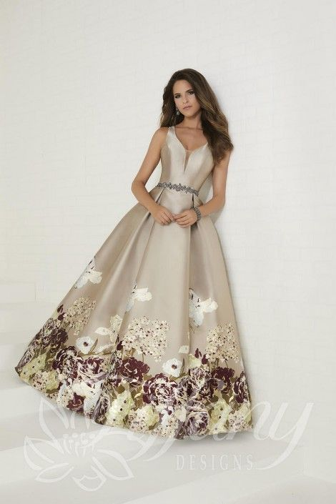 Style 16291 from Tiffany Designs is a sleeveless ball gown with a ...