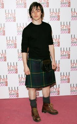 James Mcavoy. I'm really into men in kilts for some reason.