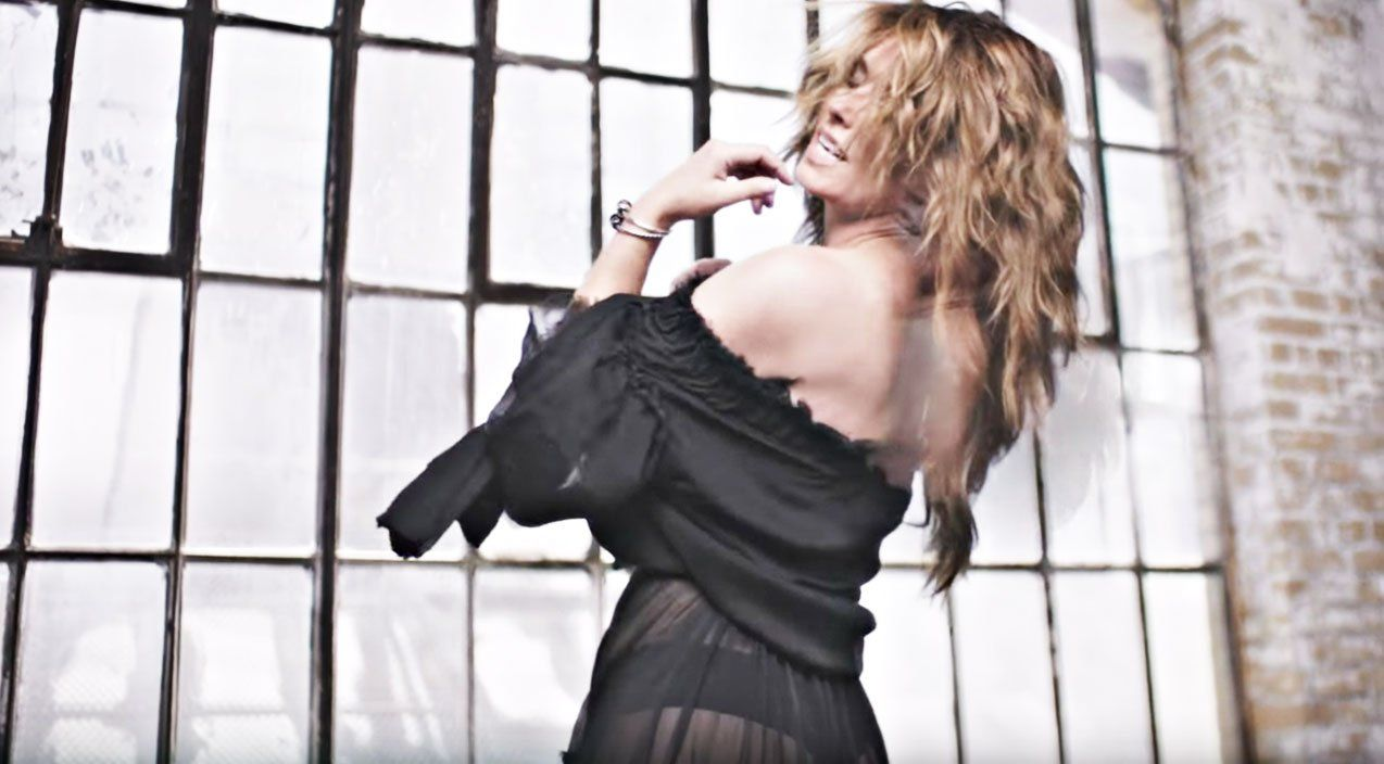 shania twain seduces with sultry see-through dress & thong in new