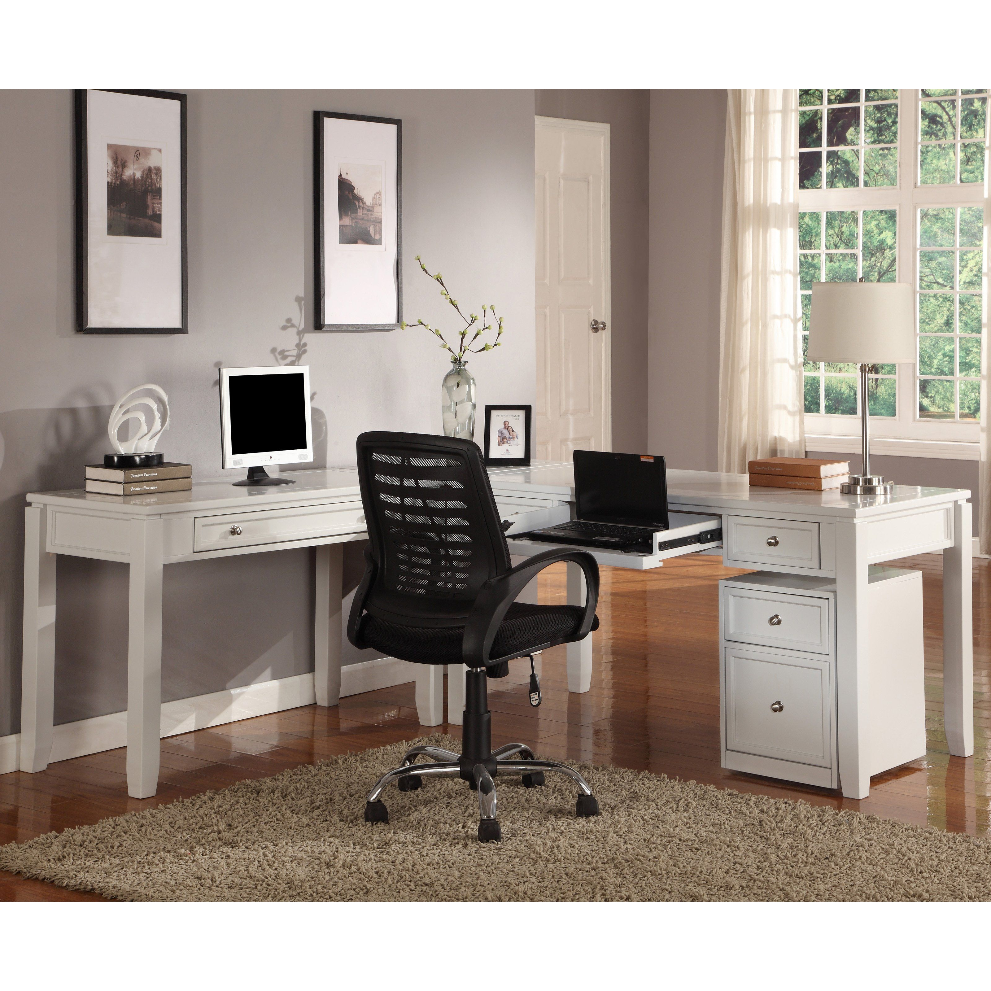 gallery choosing office cabinets white. Parker House Boca L-Shaped Desk - Cottage White Modern Desks Hayneedle Gallery Choosing Office Cabinets