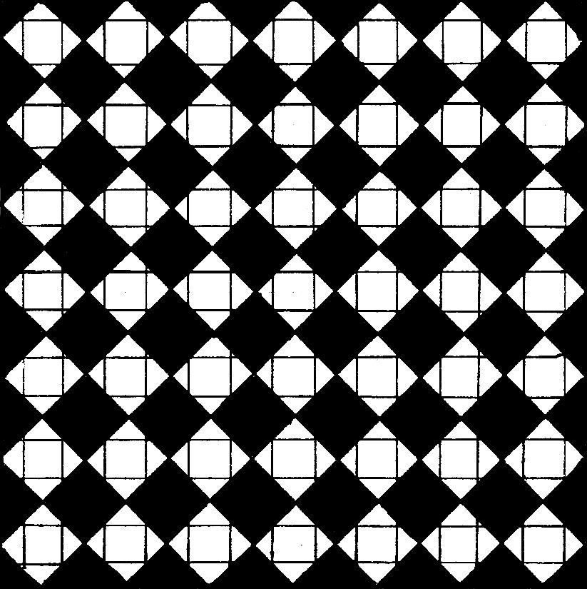 Repeating Diamond Pattern That Uses Positive And Negative Space