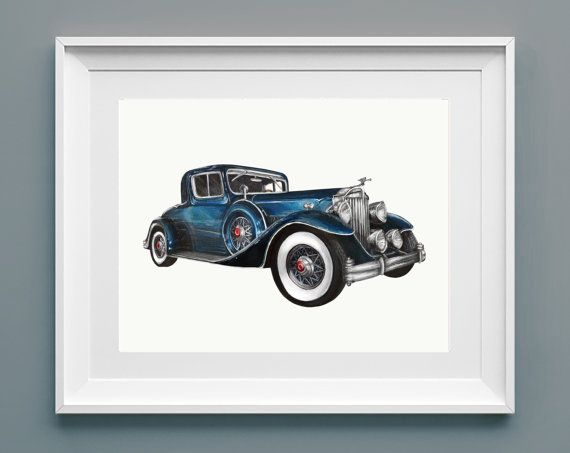 Art Print | The Governor | 1933 Packard by #TheTatteredTraveler #classiccar #classic #car #automobile #vehicle #antique #packard #vintage #royalblue #cars https://www.etsy.com/listing/197641098/art-print-the-governor-1933-packard?ref=related-0