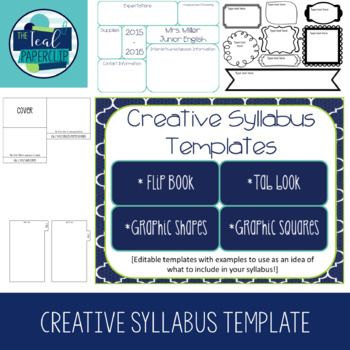 Creative Syllabus Templates  Syllabus Template Paragraph And