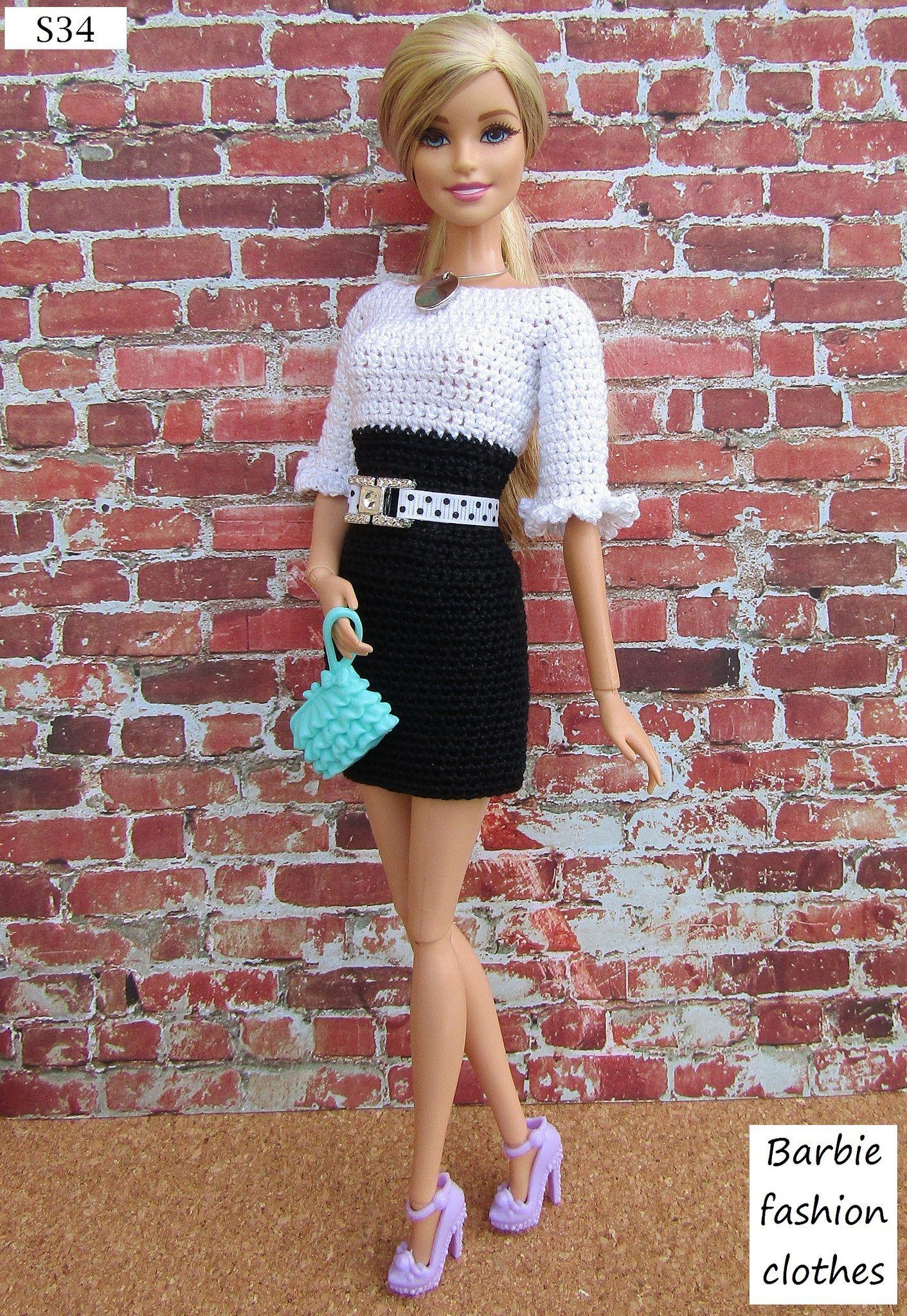 Pin by Alexandra Tarasova on Knit & Crochet: Barbie\'s clothes p.2 ...