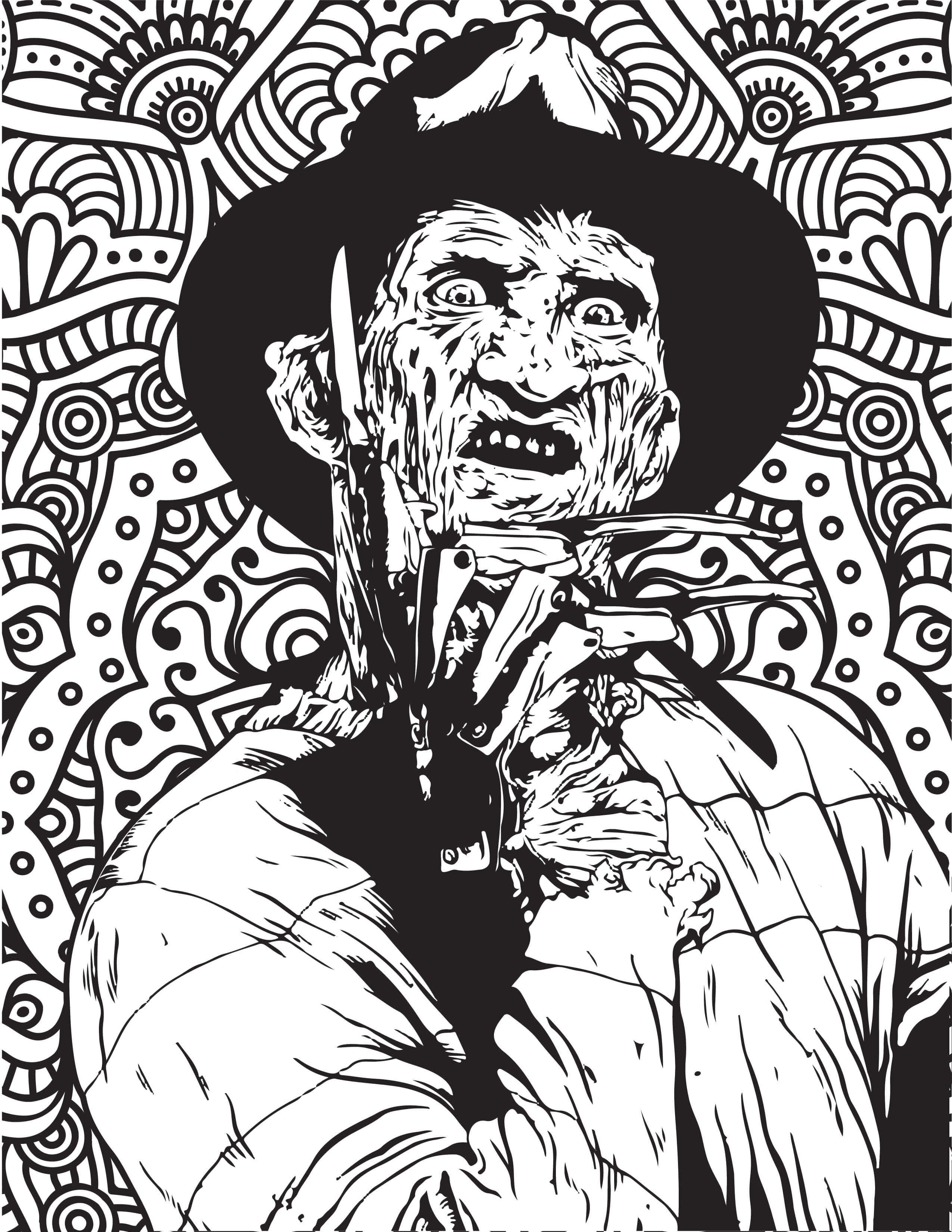 horror printable coloring pages