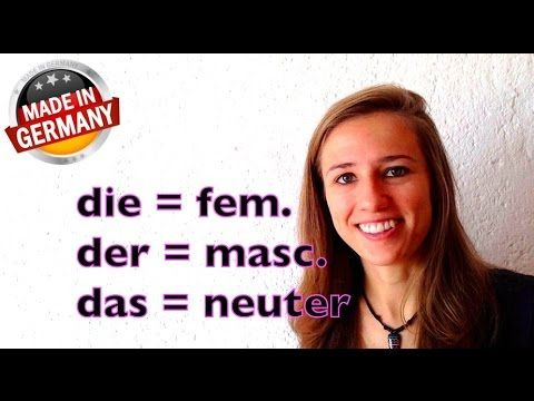 SPECIAL: Der, Die, Das: Awesome Hints on how to Guess German Articles - YouTube