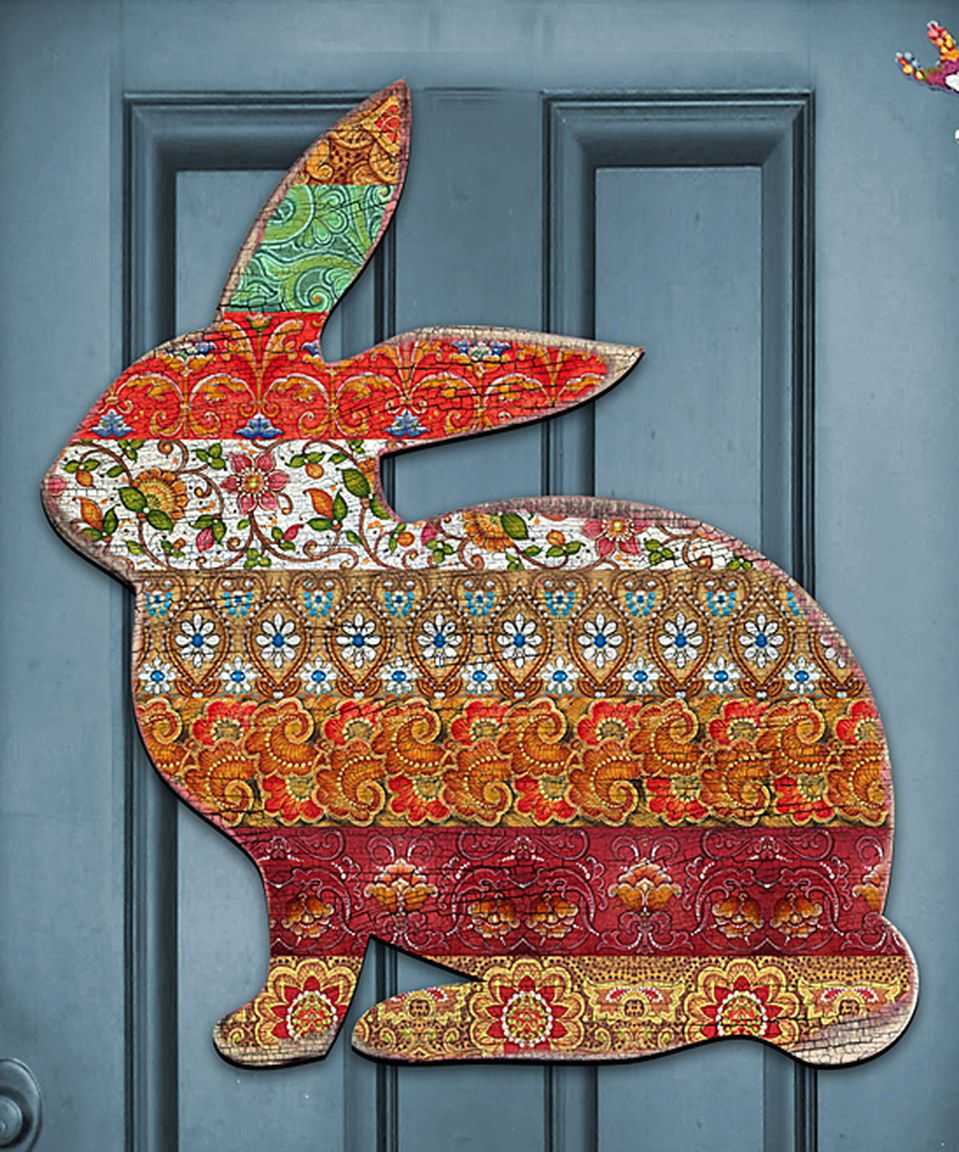 Take a look at this Cottage Plaid Bunny Garden Wall Décor today!
