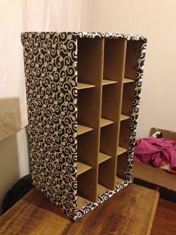 mueble+hecho+con+cajas+de+carton.jpg (564×752) | manualidades ...