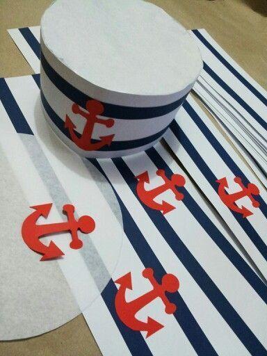 5773846be4b49 DIY - Chapéu de Marinheiro para festinha infantil - Dicas pra Mamãe