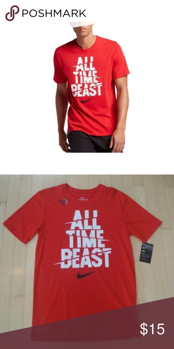 9e10487203ea Nike Dri-Fit Cotton Men s Red Tee