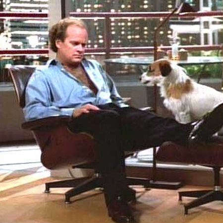 Eames Lounge Chair And Ottoman Being Used By Frasier As