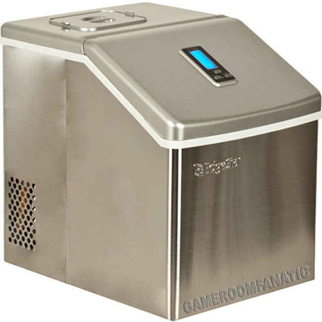 Countertop Clear Ice Maker Portable Compact Cube Machine Stainless