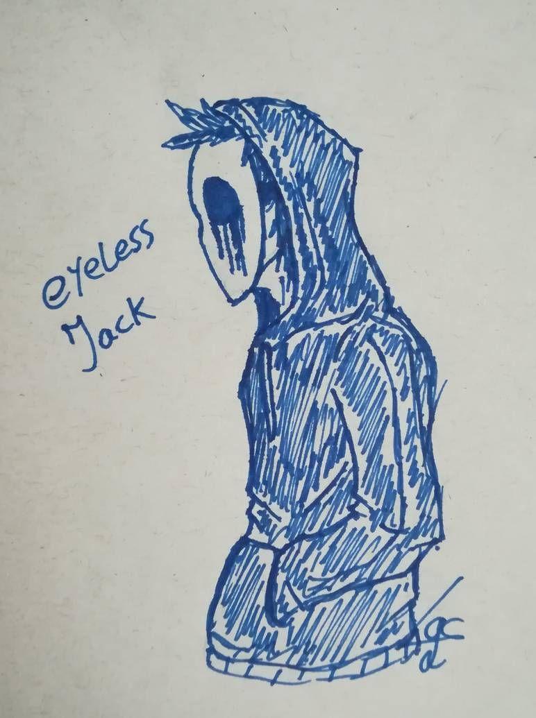 Eyeless Jack Doodle By Lichtningbolt Eyeless Jack Creepypasta Creepypasta Characters